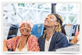 Rapper Wiz Khalifa and mother Peachie Wimbush-Polk